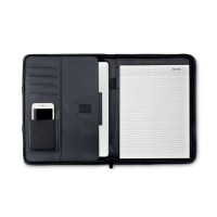 A4 size portfolio in microfiber with 50 pages white paper block