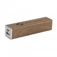 PowerCharger - Wood Powerbank 2000 mAh